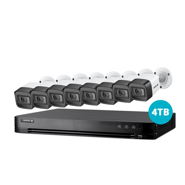 4K Ultra HD 4TB Security System with 8 Cameras