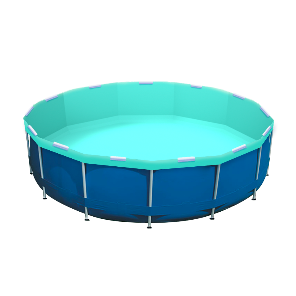 Cabana Boy Pool Re-lining Kit Shown in an Intex Pool