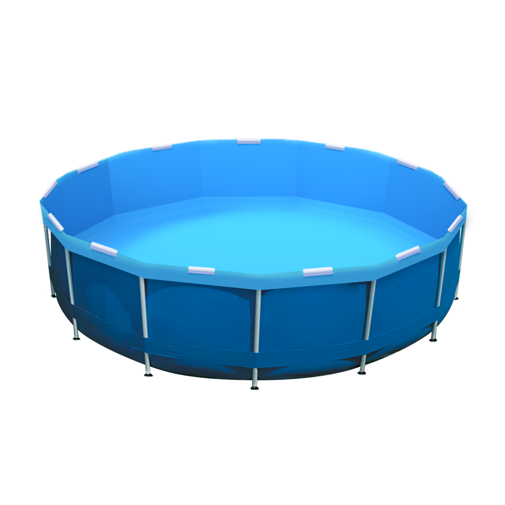 Crystal Blue Pool Re-lining Kit Installed in an Intex Pool