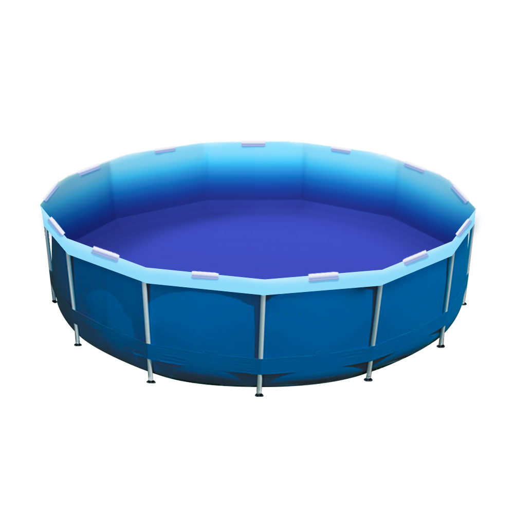 Ombre Sea Pool Re-lining Kit Installed in an Intex Pool