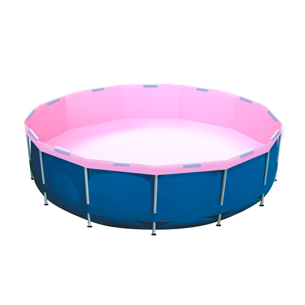 Pool Party Pink Pool Re-lining Kit installed in an Intex Pool