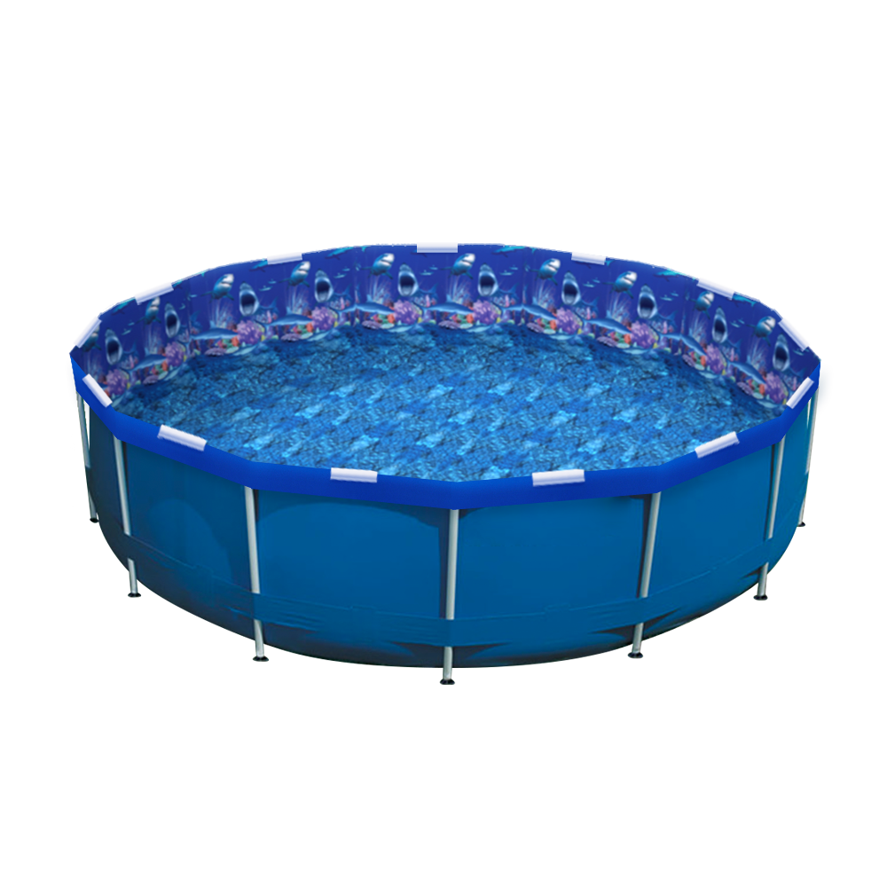 Shark Nation Pool Re-lining Kit installed in an Intex Pool