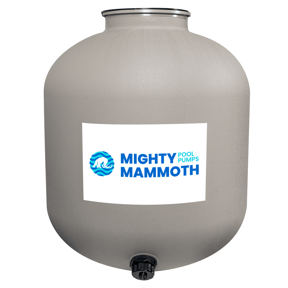 Swimming pool sand filter tank