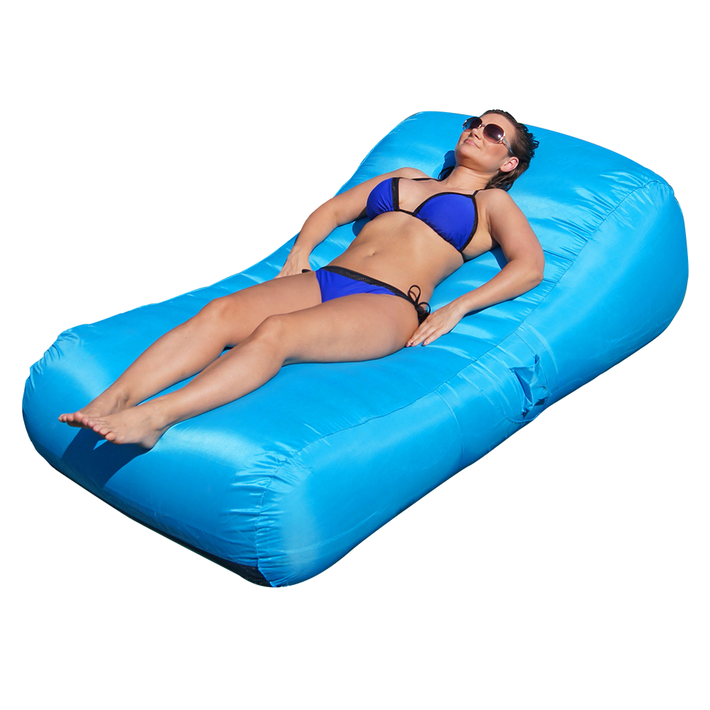 Turquoise Aquadolce Deluxe Inflatable Pool Lounger