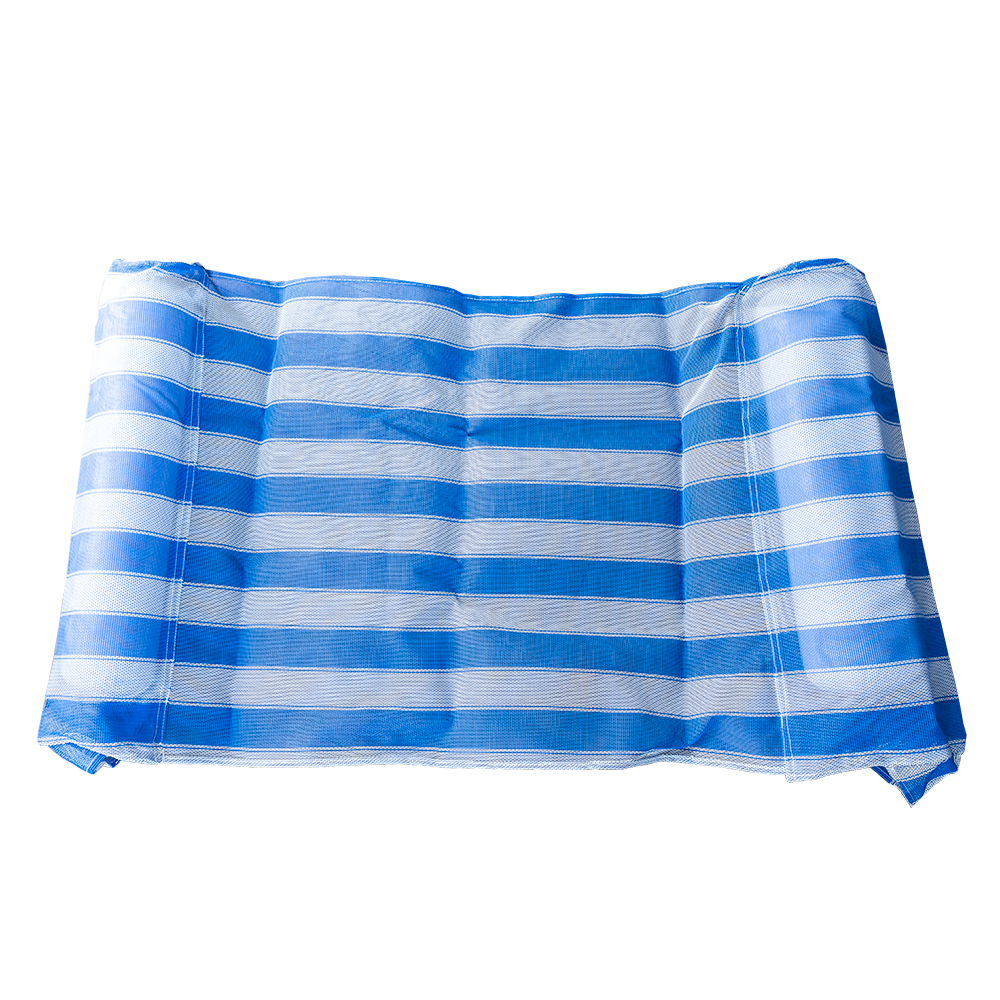 Blue and White Striped Inflatable Water Hammock