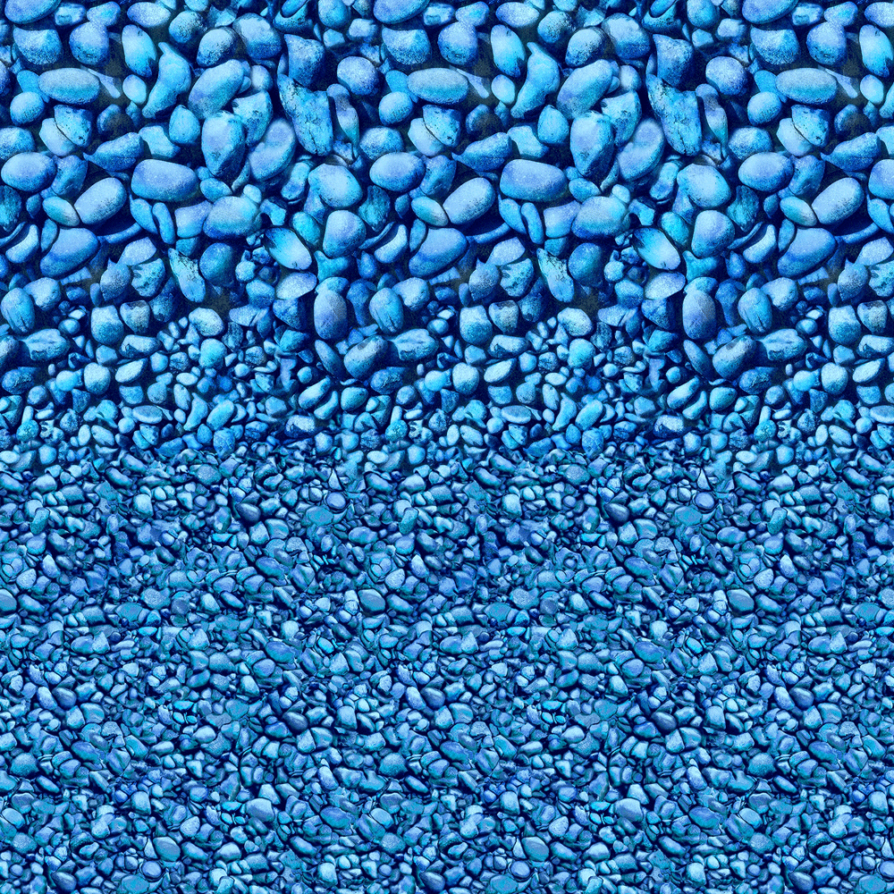 Bluerock Lagoon Beaded Pool Liner with Blue Stone Pattern