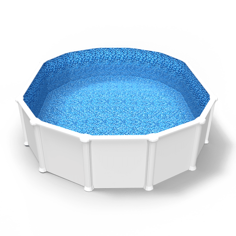 Bluerock Lagoon Overlap Pool Liner in Oval Above Ground Swimming Pool