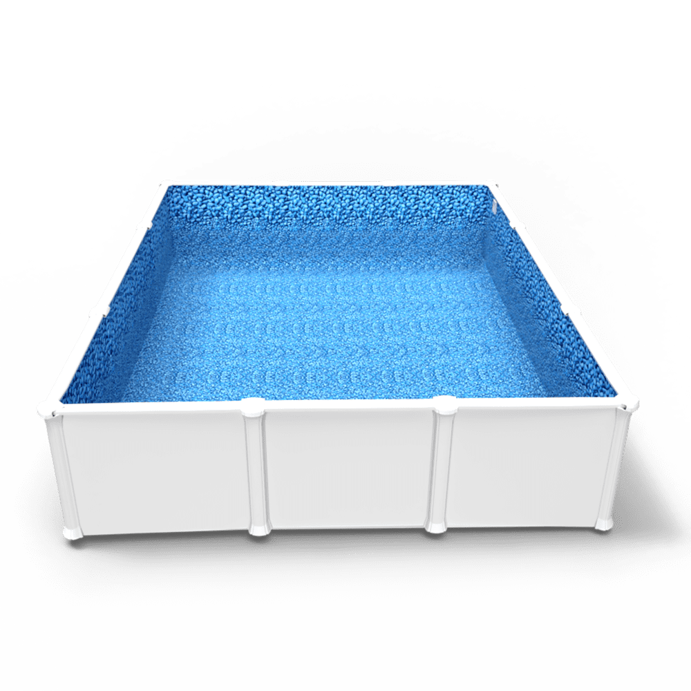 Beaded Bluerock Lagoon Pool Liner in a Rectangle Above Ground Swimming Pool