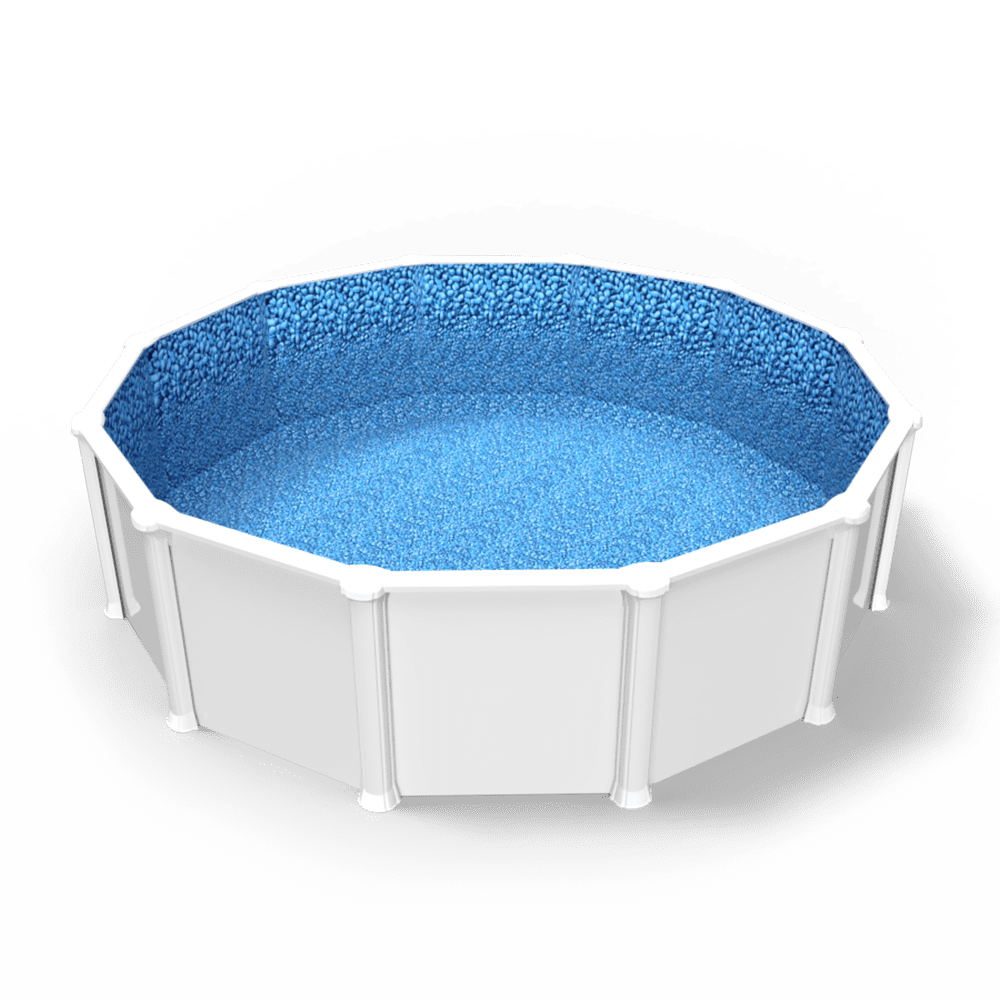 Bluerock Lagoon Overlap Pool Liner in a Round Above Ground Swimming Pool