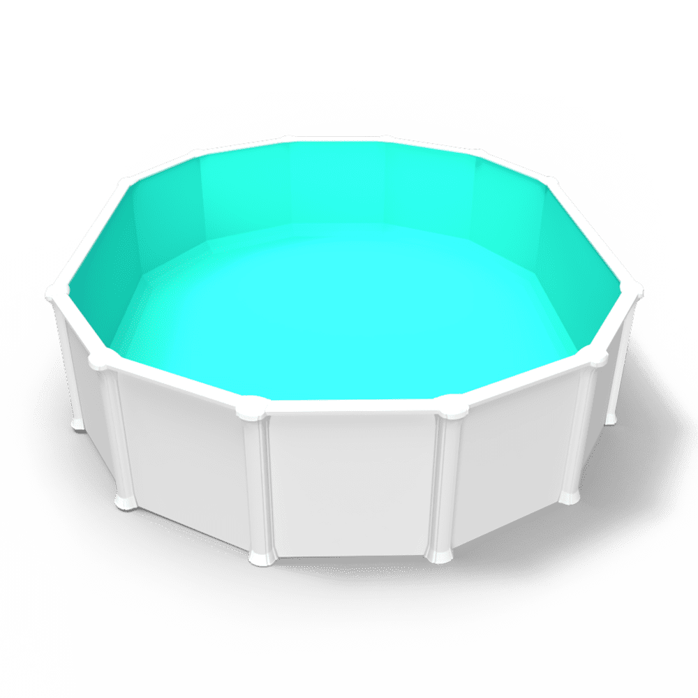 Cabana Boy Overlap Pool Liner in an Oval Above Ground Swimming Pool