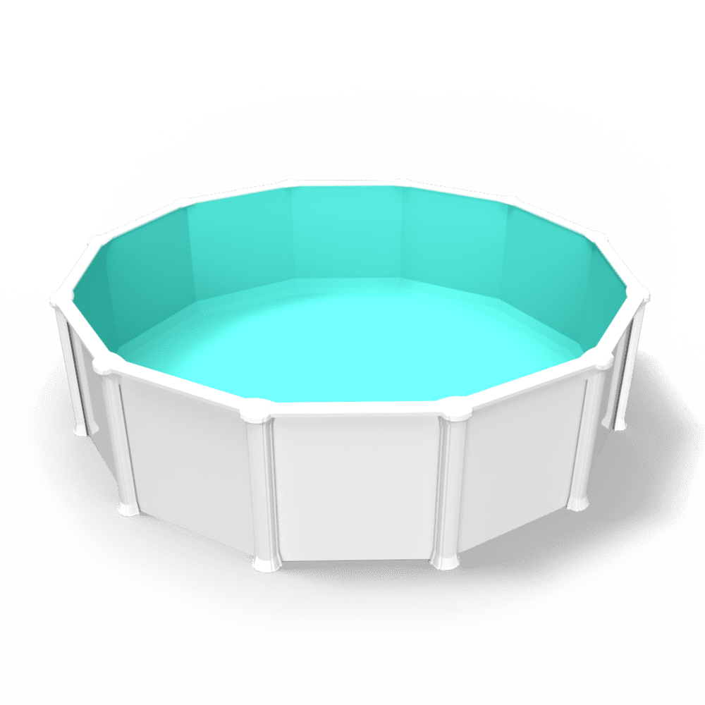 Cabana Boy Light Blue Overlap Liner in a Round Above Ground Pool