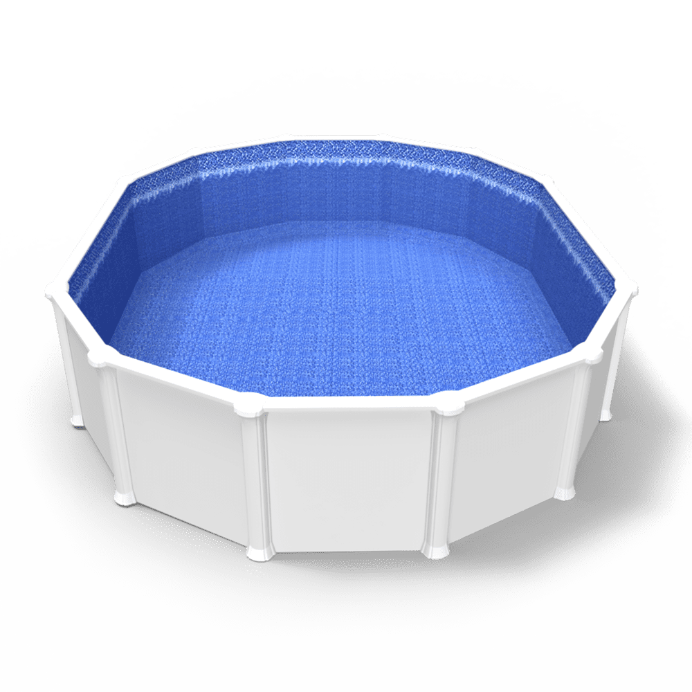 limmerglass Beaded Pool Liner in an Oval Above Ground Pool