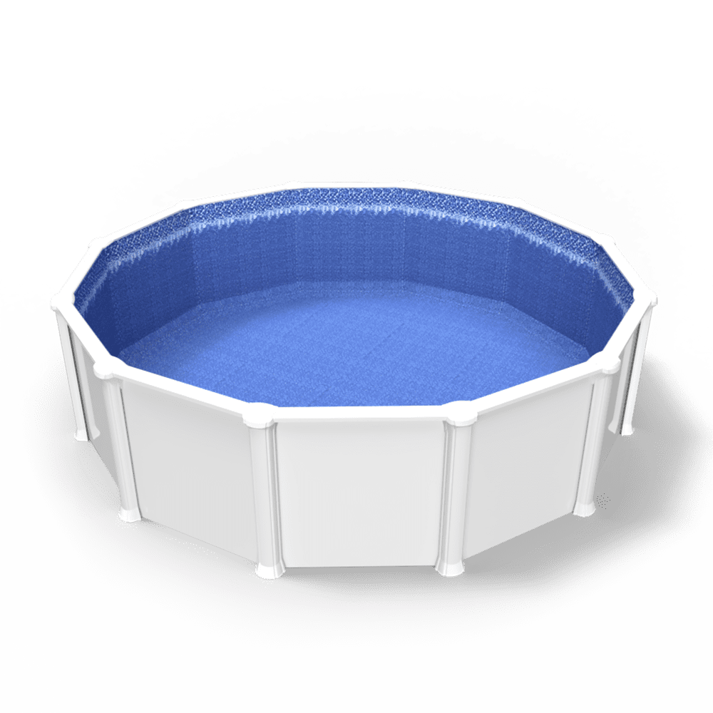 Glimmerglass Above Ground Pool Liner Quality Pool Products 18 ft Round Overlap