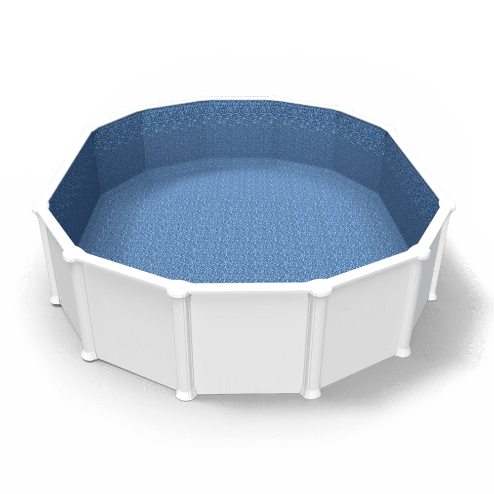 Palozzo Overlap Pool Liner in an Oval Above Ground Swimming Pool
