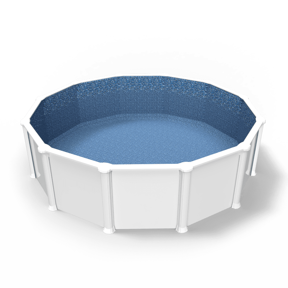 Palozzo Overlap Pool Liner in a Round Above Ground Swimming Pool