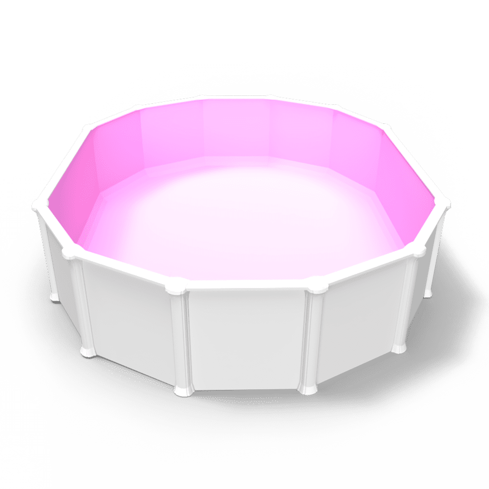 Pool Party Pink Overlap Liner in an Oval Above Ground Pool