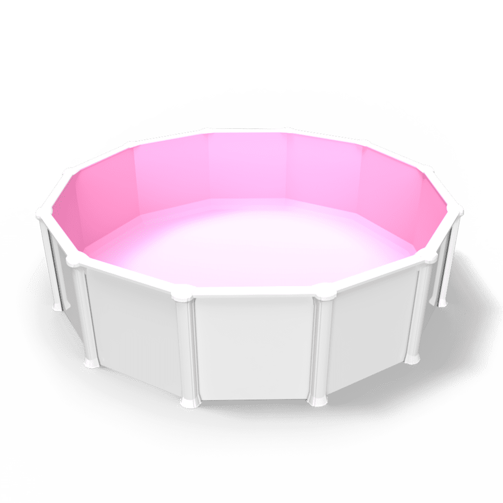 Pool Party Pink - Round - Overlap
