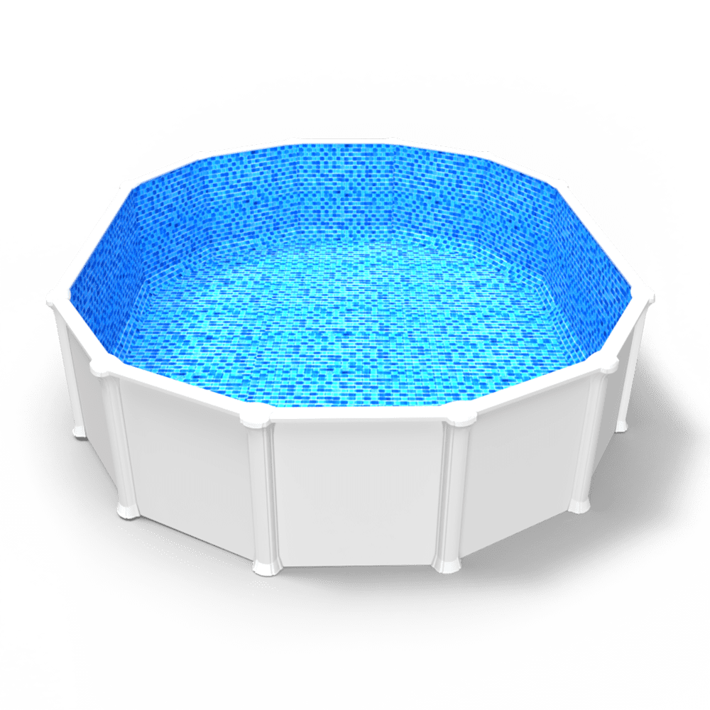 Royale Abyss Overlap Pool Liner in an Oval Above Ground Swimming Pool