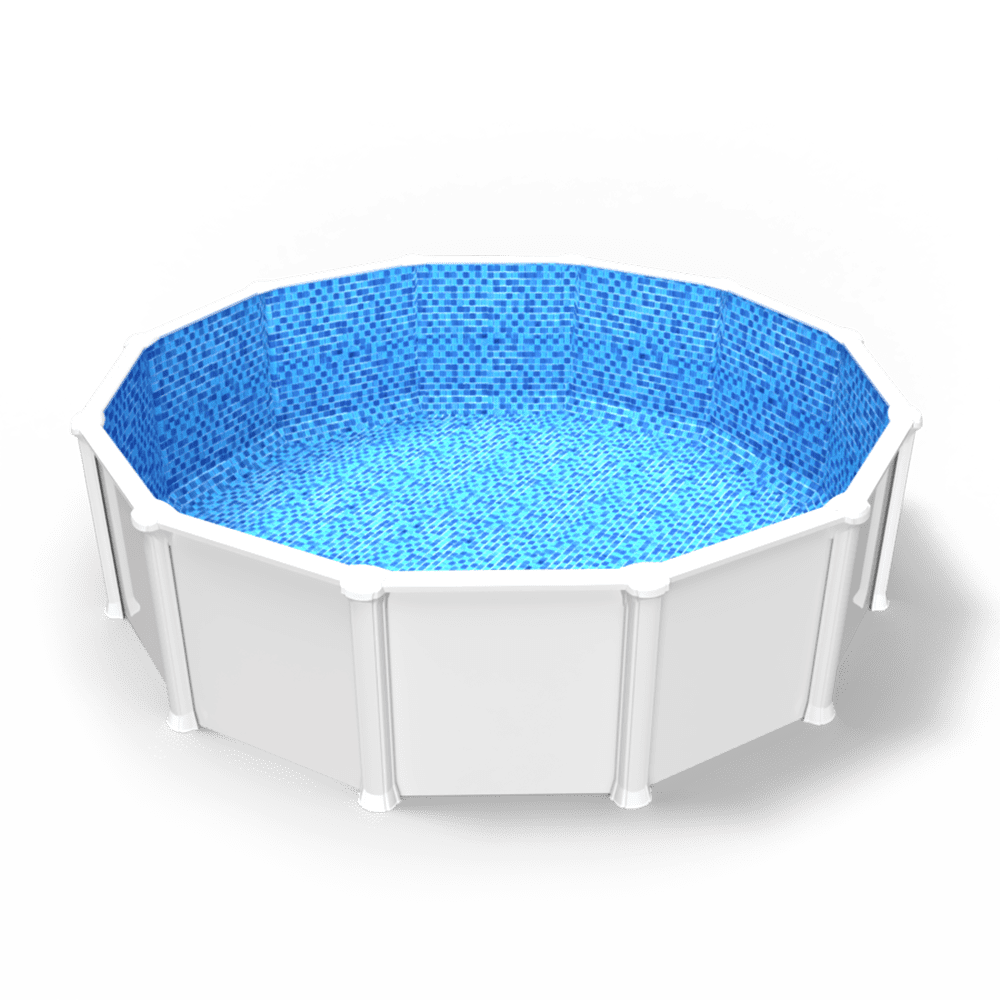 Royale Abyss Overlap Pool Liner in a Round Above Ground Swimming Pool