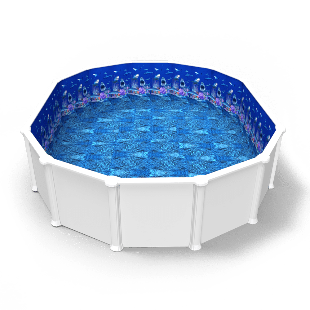 hark Nation Beaded Pool Liner in an Oval Above Ground Swimming Pool