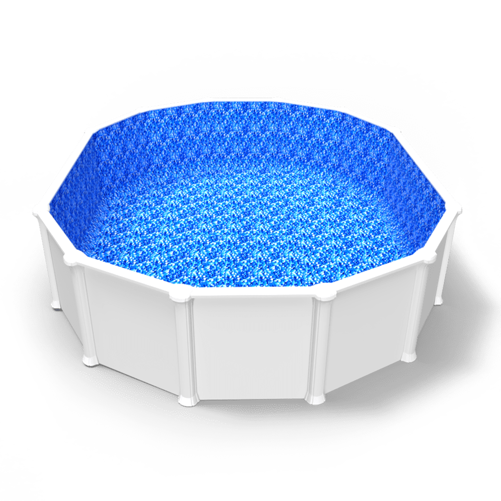 Stoney Creek Beaded Pool Liner in an Oval Above Ground Pool