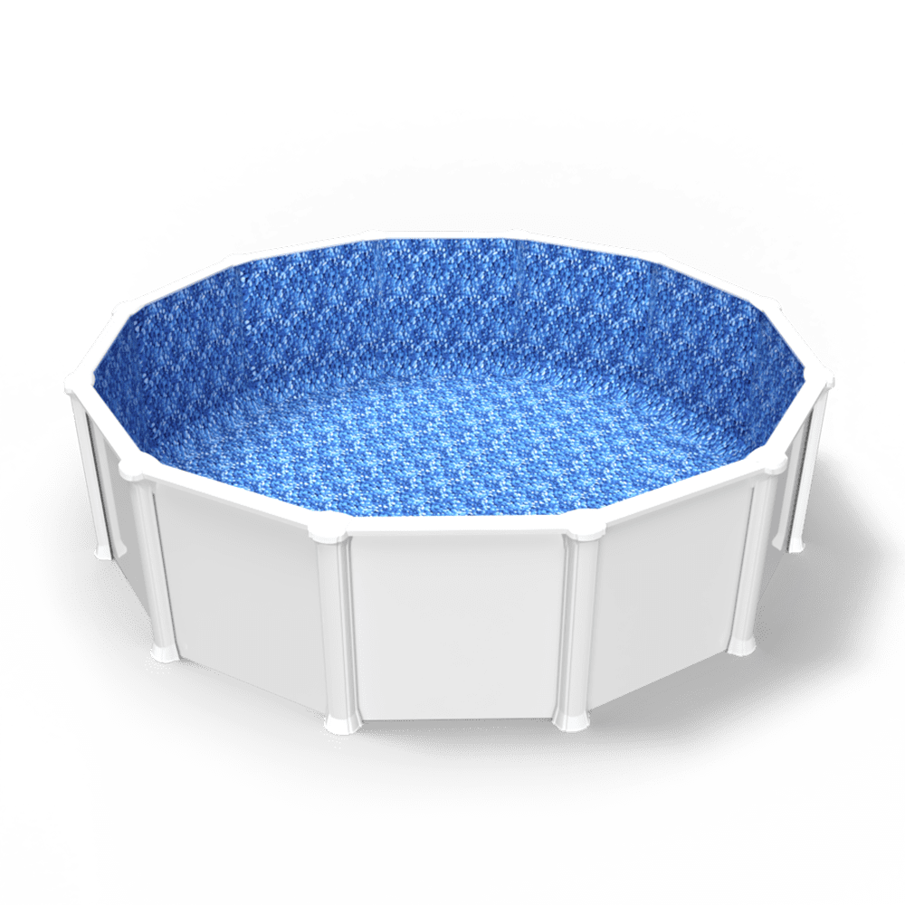 Stoney Creek Overlap Pool Liner in a Round Above Ground Pool