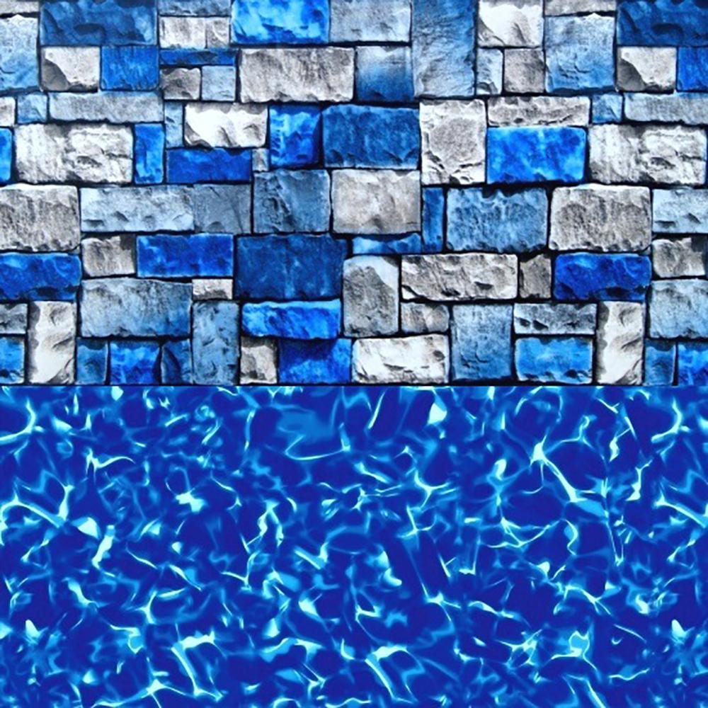 Tahoe Valley Overlap Pool Liner with a Stone Pattern