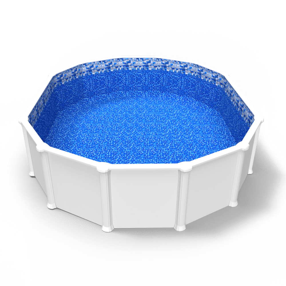 Tahoe Valley Beaded Pool Liner in an Oval Above Ground Swimming Pool