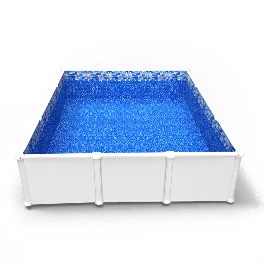 Tahoe Valley Beaded Pool Liner in a Rectangle Above Ground Swimming Pool