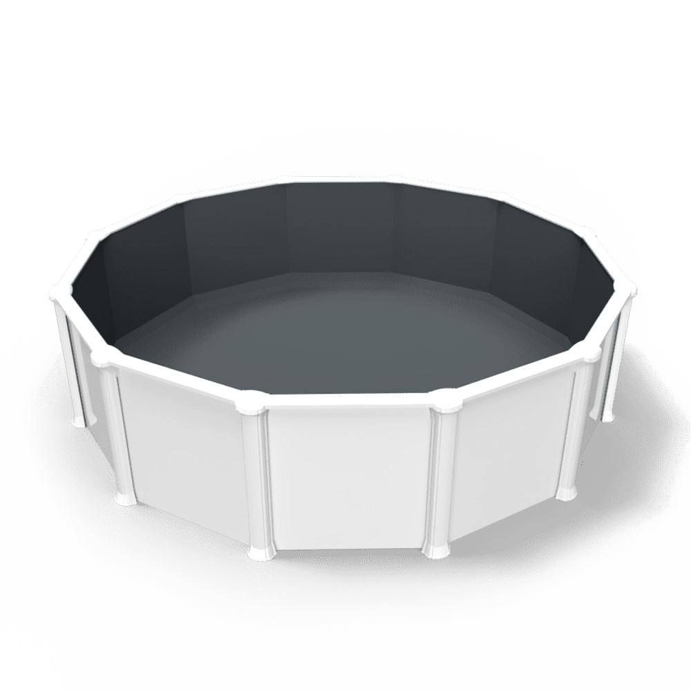 Thermal Black Granite Overlap Pool Liner in a Round Above Ground Swimming Pool