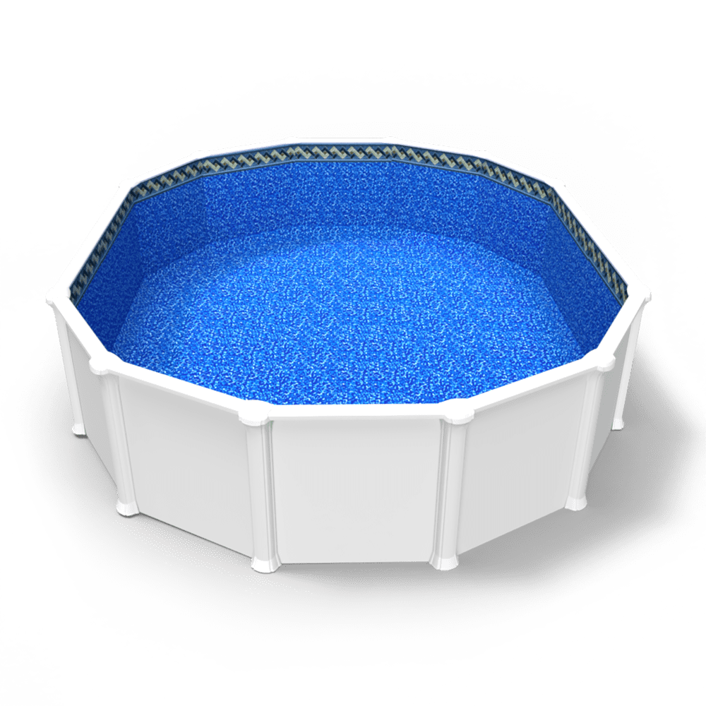 Tahitian Spa Beaded Pool Liner in an Oval Above Ground Swimming Pool