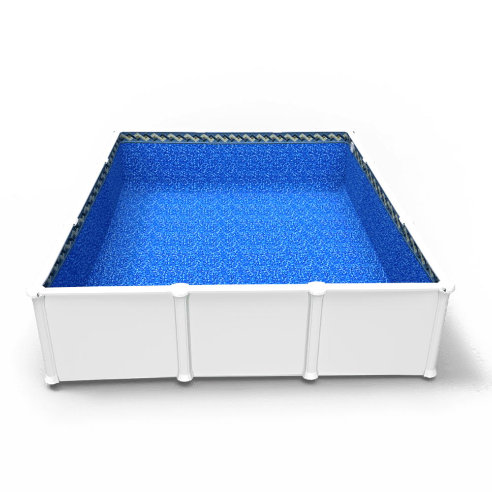 Tahitian Spa Beaded Pool Liner in a Rectangle Above Ground Swimming Pool