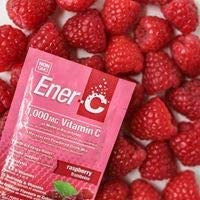 Ener-C - Vitamin C Immune Support, 1000mg Vitamin C Effervescent Multivitamin Drink Powder, Fruit Juice Vitamin C Drink Mix for Hydration with Electrolytes, Raspberry, 30 Packets