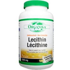Organika Lecithin 1200mg 180 Softgel Capsules