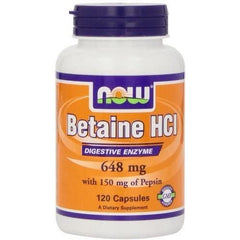 Now Foods Betaine HCl, 648 mg , 120 Capsules by Now Foods