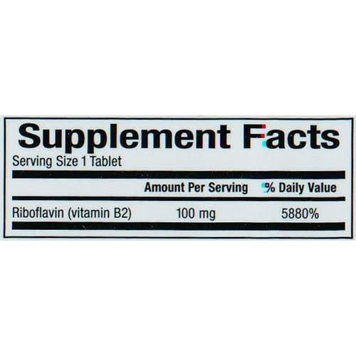 Natural Factors - Vitamin B2 Riboflavin 100mg, Support for Energy & Normal Metabolism, 90 Tablets