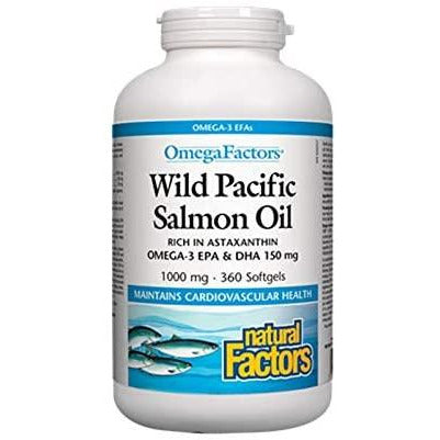 Omega Factors Wild Pacific Salmon Oil 1000 mg 360 Softgels