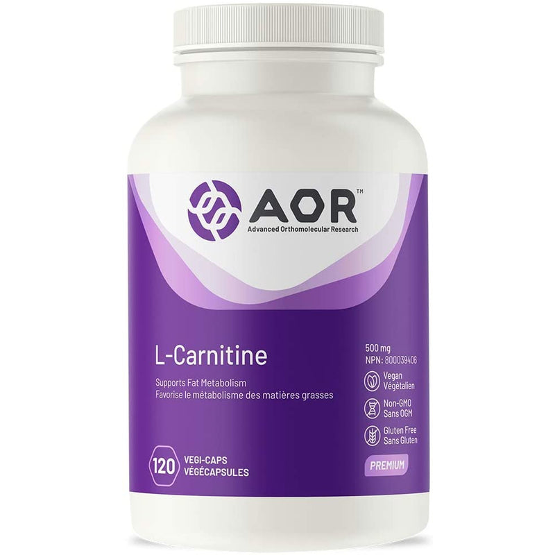 AOR - L-Carnitine 120 Capsules - Supports Fat Metabolism