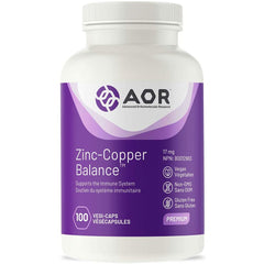 AOR - Zinc-Copper Balance 100s Capsules - A Balanced Ratio of Two Key Minerals