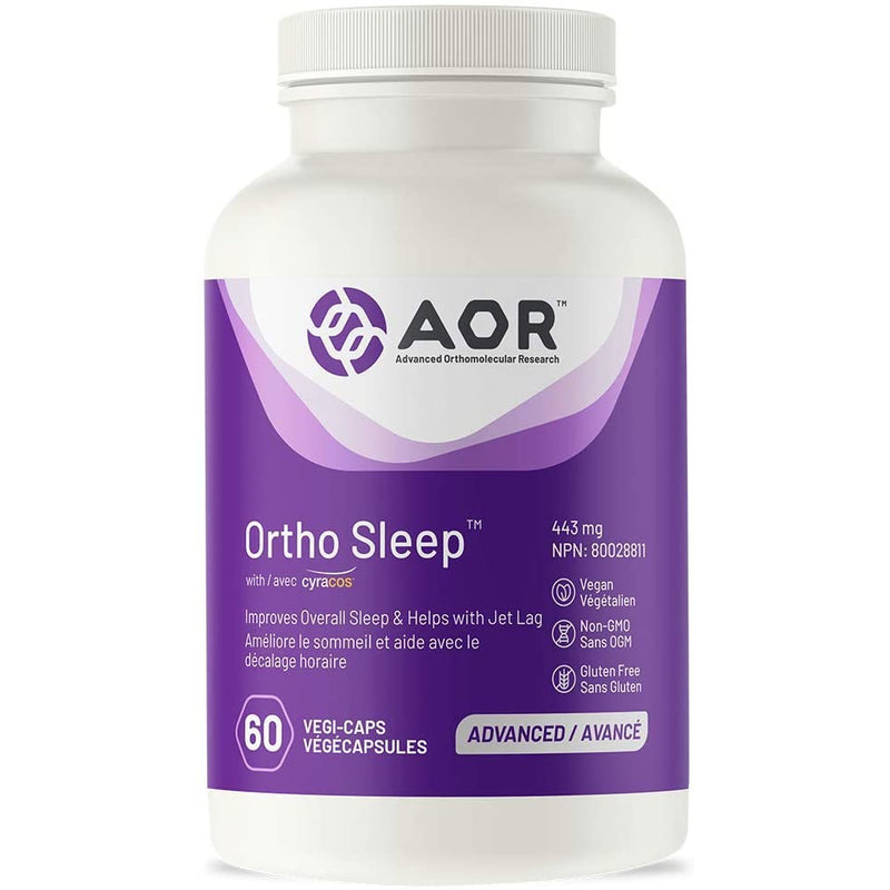 AOR - Ortho Sleep 60 Capsules - Improves Overall Sleep & Helps with Jet Lag