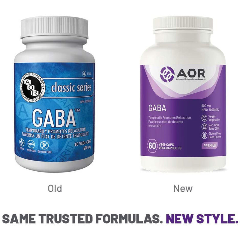 AOR - GABA 60 Capsules - Relieves Stress and Anxiety
