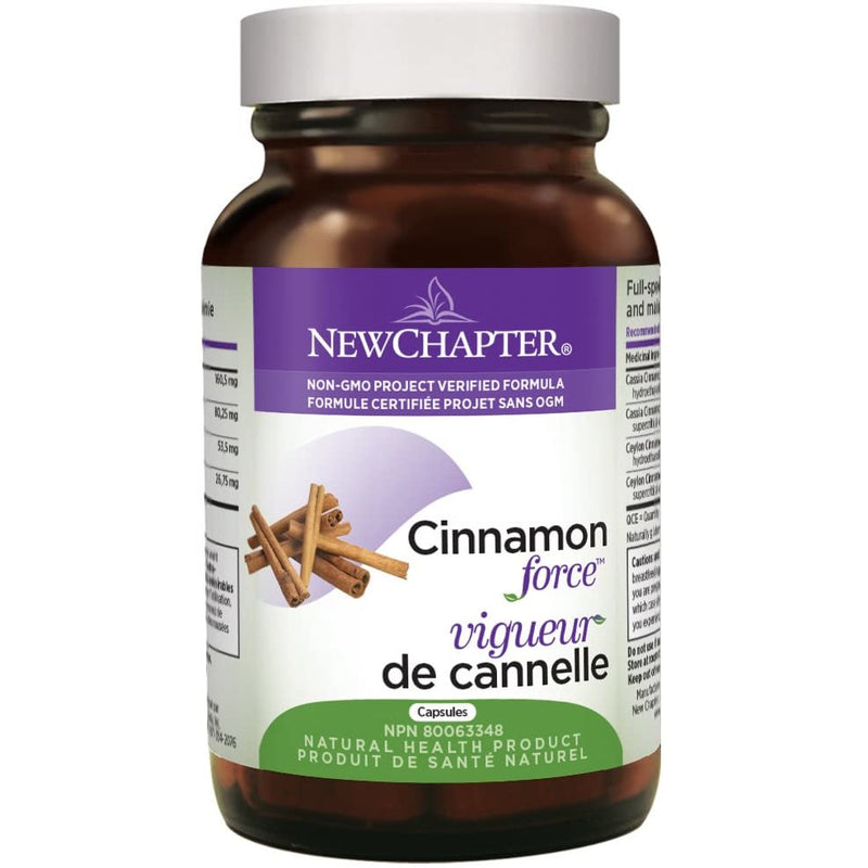 New Chapter Cinnamon Supplement - Cinnamon Force for Blood Sugar Support + Antioxidant Action + Non-GMO Ingredients