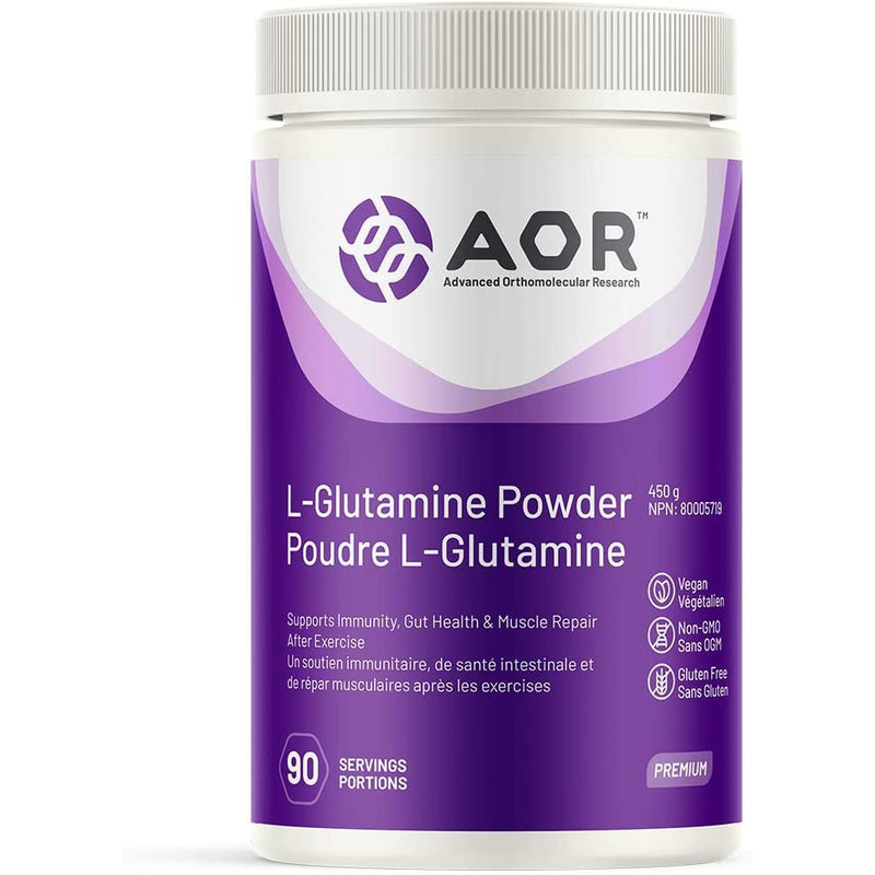 AOR - L-Glutamine 454 g Powder - Supports Immunity, Gut Health & Muscle Repair After Exercise