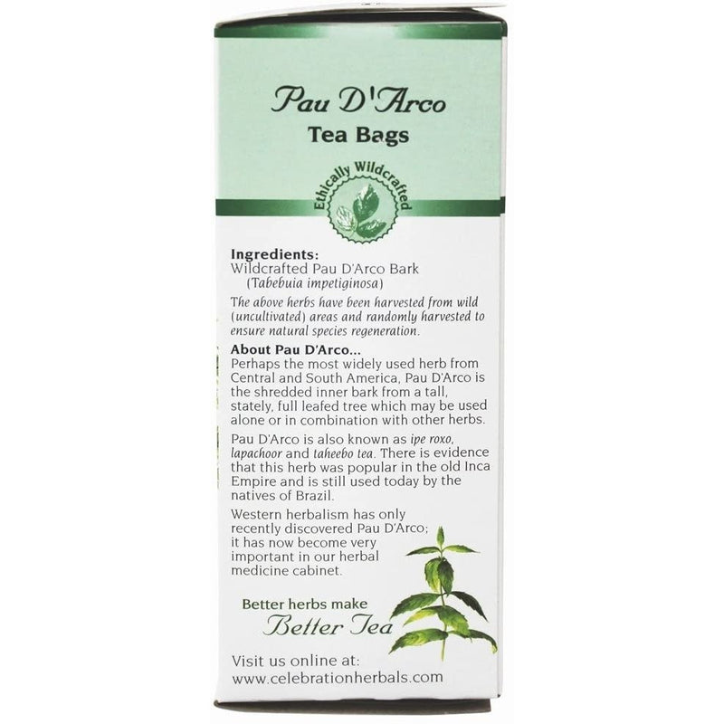PAU D'Arco Celebration HERBALS 24 Tea Bags 24g