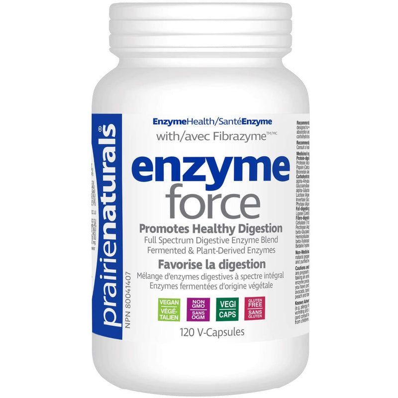 Prairie Naturals Enzyme force with fibrazyme digestive enzyme vcaps 120 Count