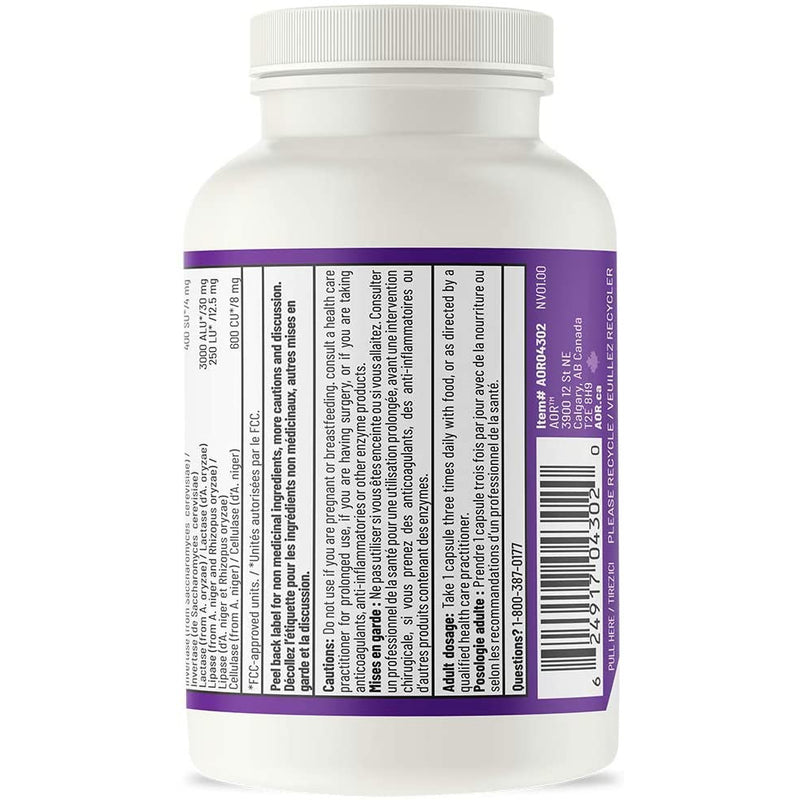 AOR - Digestase 2.0 90 Capsules - Helps Prevent Digestive Symptoms of Lactose Intolerance