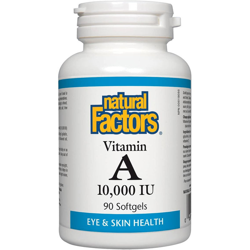 Natural Factors Vitamin A 10,000 IU, 90 Softgels