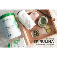 Spirulina Powder-Certified Organic-Superfood High in Antioxidants; Vitamins