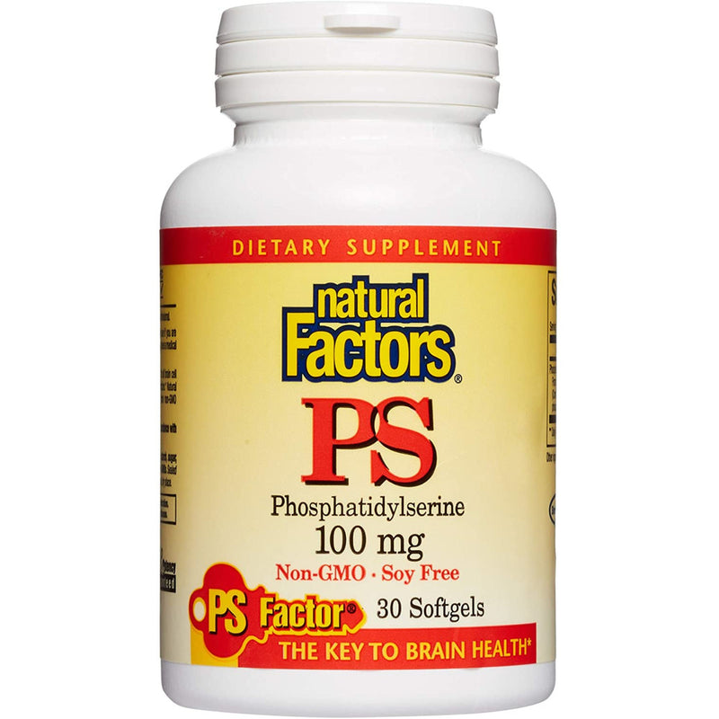 PhosphatidylSerine by Natural Factors - 30 softgels, 100 mg