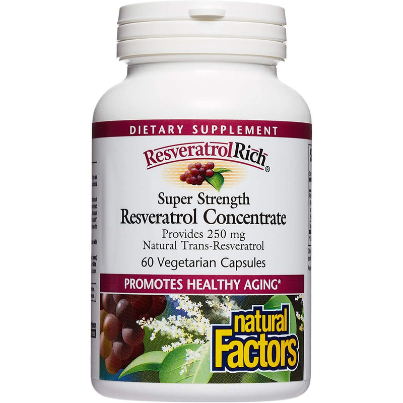 Natural Factors ResveratrolRich Super 500 mg 60vc